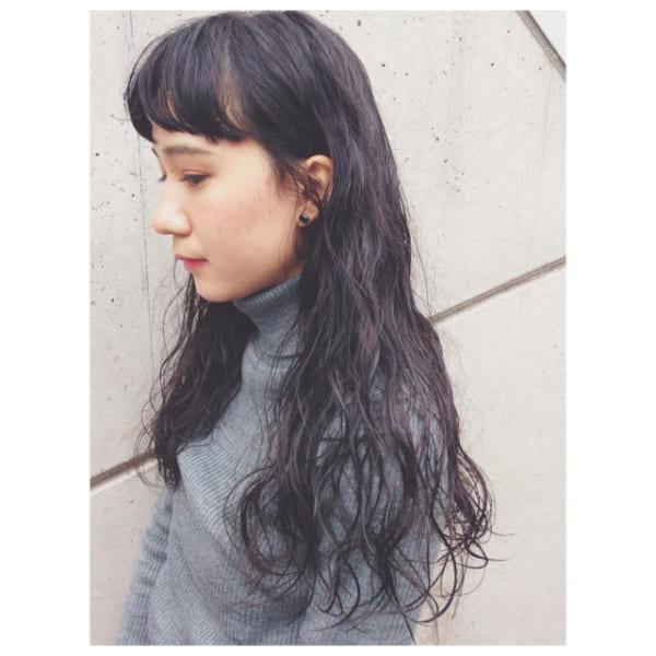 オン眉×黒髪ロング9