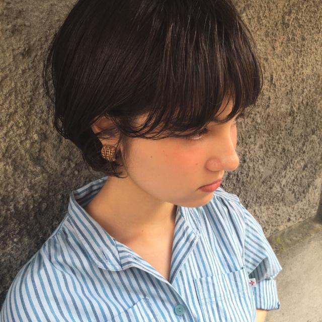 黒髪ショートボブ(大人アレンジ)9