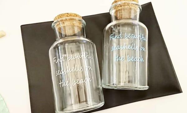 【キャンドゥ】コルク栓のガラスの小瓶