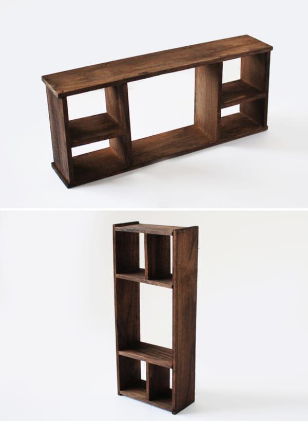 カットするだけでOK!昭和レトロな飾り棚の作り方4