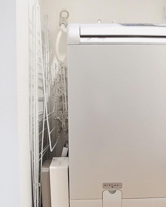 洗濯機横を有効活用