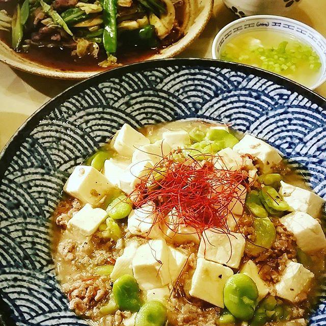 そら豆と豆腐の白麻婆