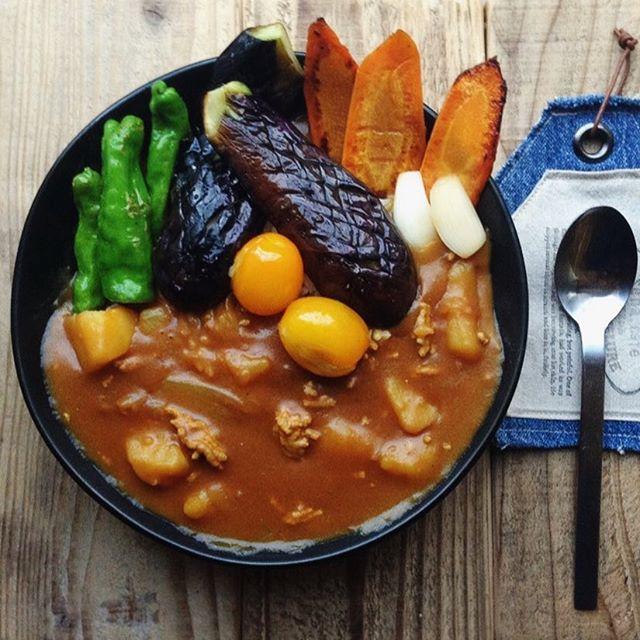揚げ野菜のカレー