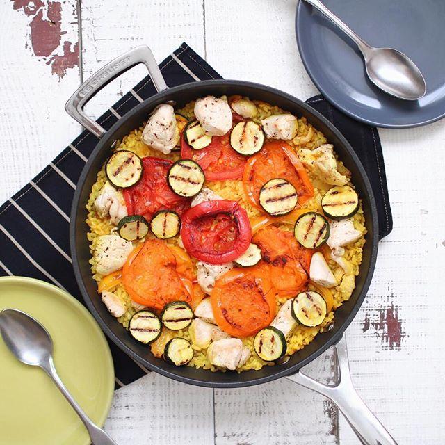 トマトと鶏むね肉のヘルシーパエリア