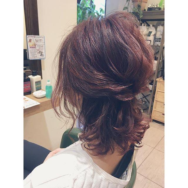 結婚式の髪型《ミディアム×フィッシュボーンヘア》4