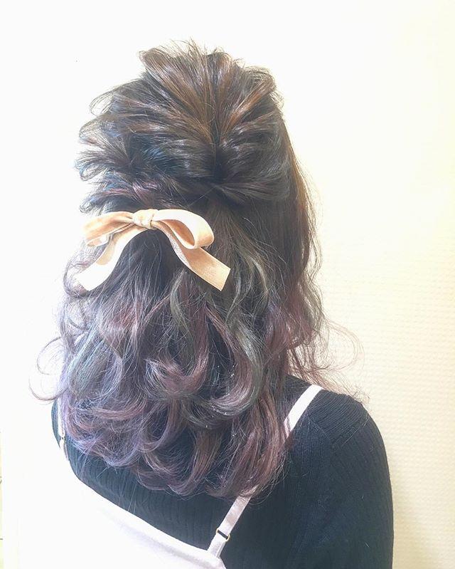 結婚式 ミディアムヘア 髪飾り3