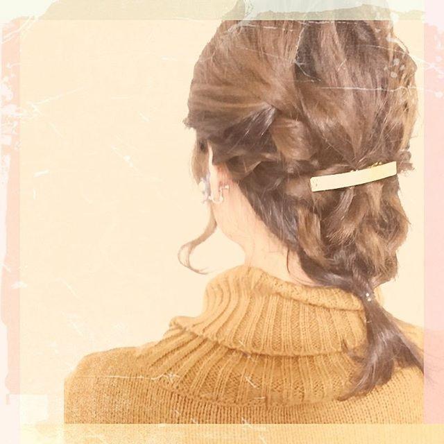 結婚式の髪型《ミディアム×ハーフアップヘア》9