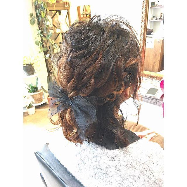 結婚式の髪型《ミディアム×ハーフアップヘア》13