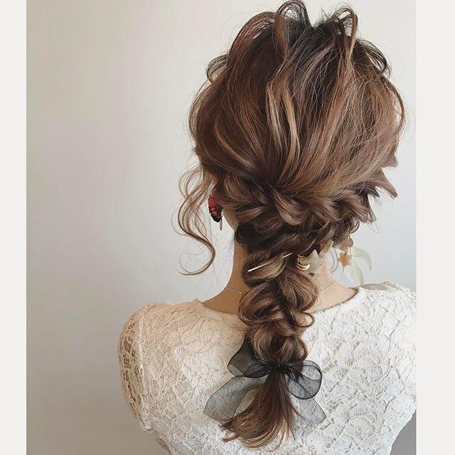 結婚式 ロングヘア 髪飾り14