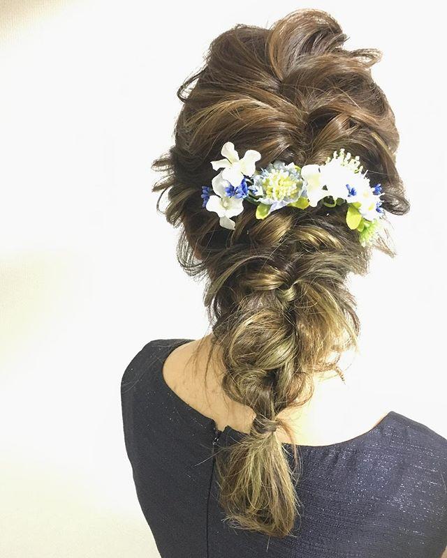 結婚式 ロングヘア 髪飾り8