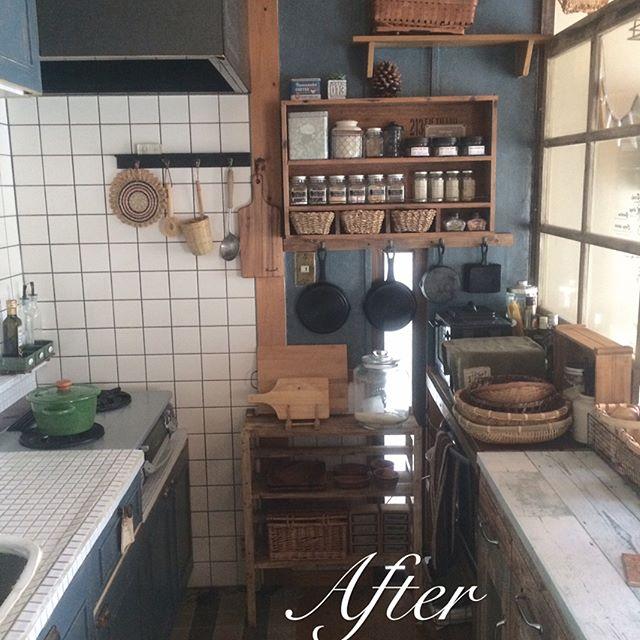 2DKのキッチン収納3