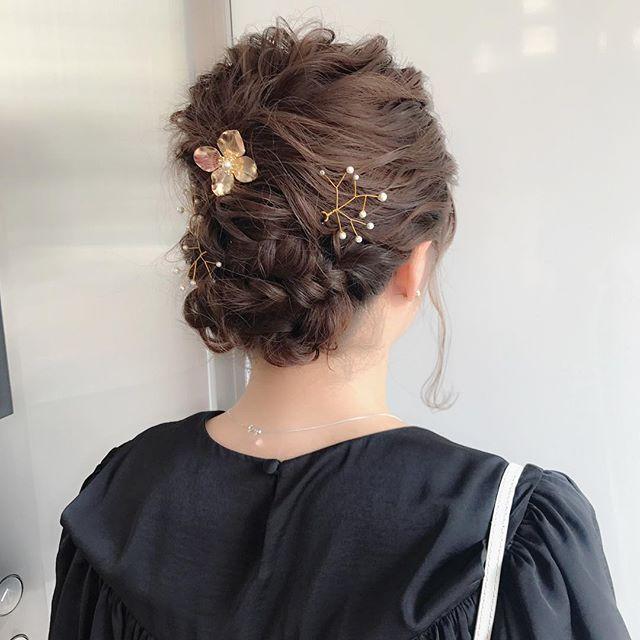結婚式 ロングヘア 髪飾り11