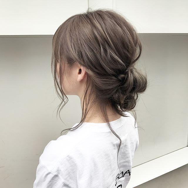 結婚式の髪型《ミディアム×アップヘア》13