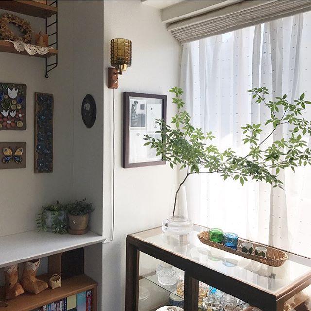 壁付けタイプのランプ