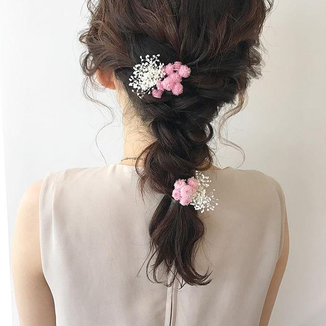 結婚式の髪型《ミディアム×ハーフアップヘア》15