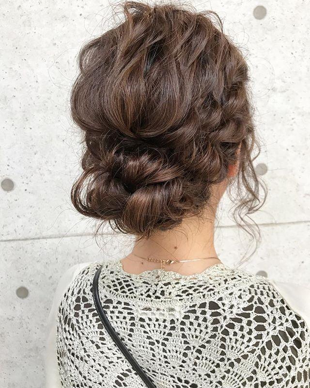 結婚式の髪型《ミディアム×アップヘア》4