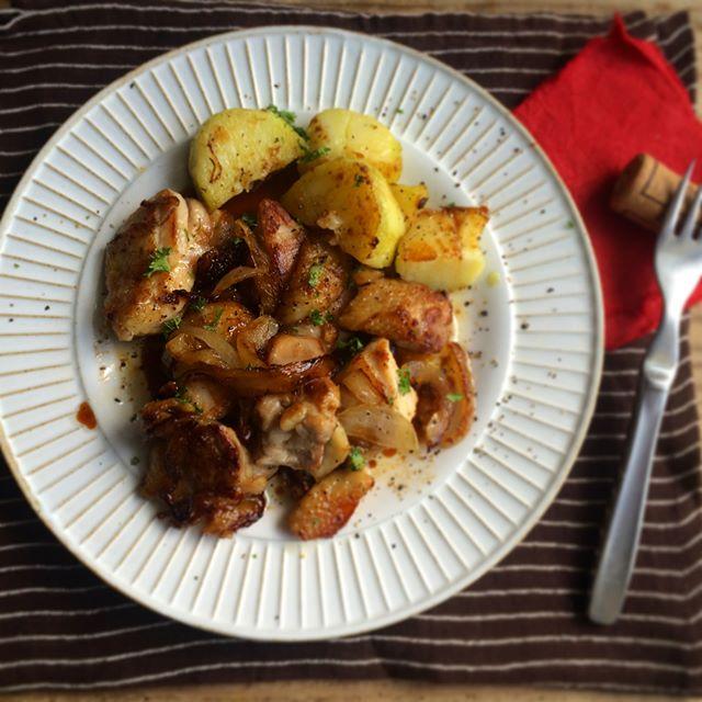 鶏の塩ガーリックバター醤油焼き