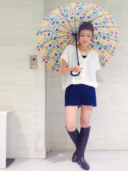 エネルギッシュな晴雨兼用傘