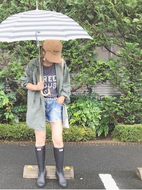 ボーダー柄の晴雨兼用傘
