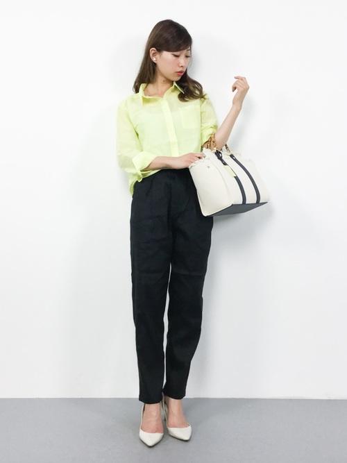 16[& chouette] 【カタログ着用】バンブーハンドルキャンバスバッグ (M)◆