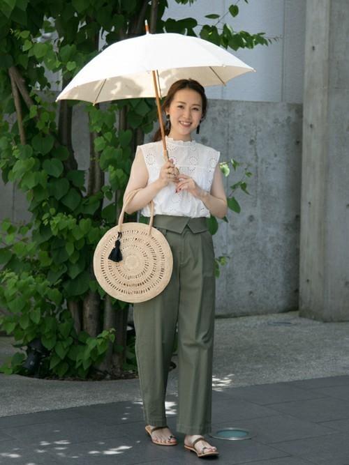白のシンプルな日傘