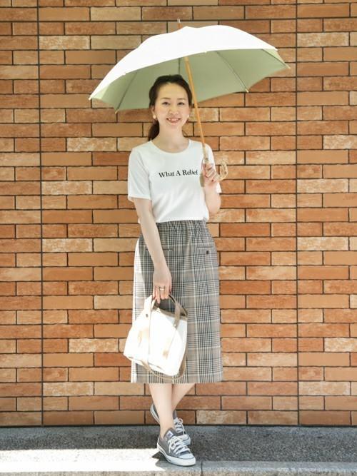 優しいグリーンの日傘