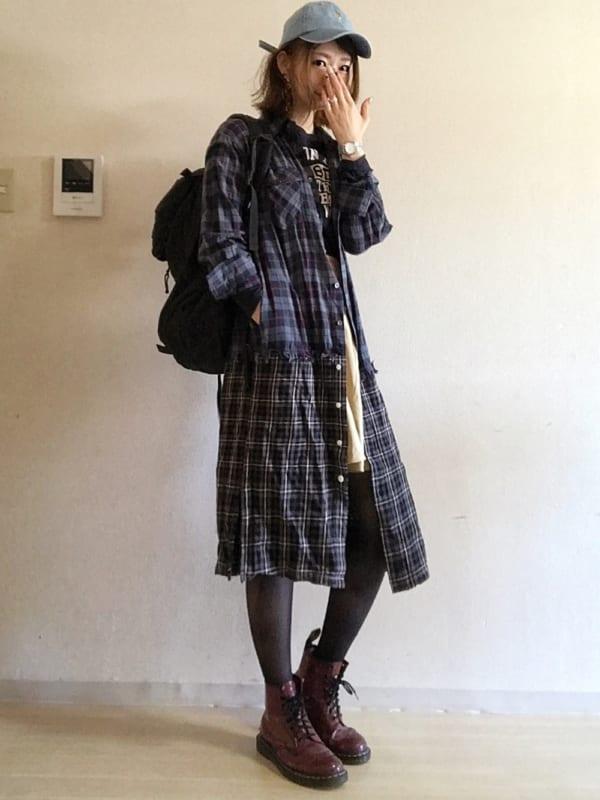秋 デート おすすめ ワンピース コーデ3