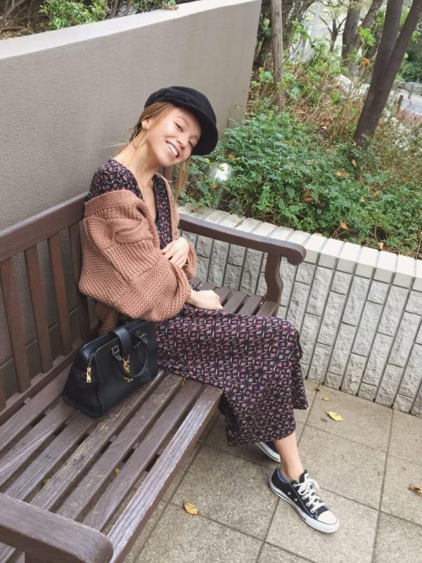 秋 デート おすすめ ワンピース コーデ4