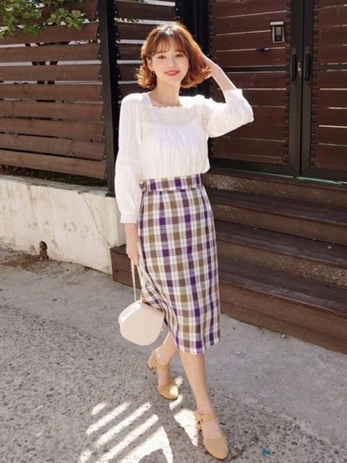 韓国コーデ スカートスタイル11