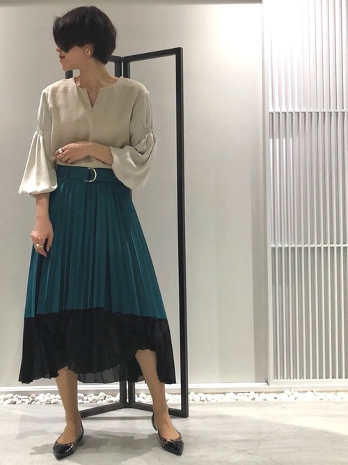 [UNITED TOKYO] メッシュコンビプリーツスカート2
