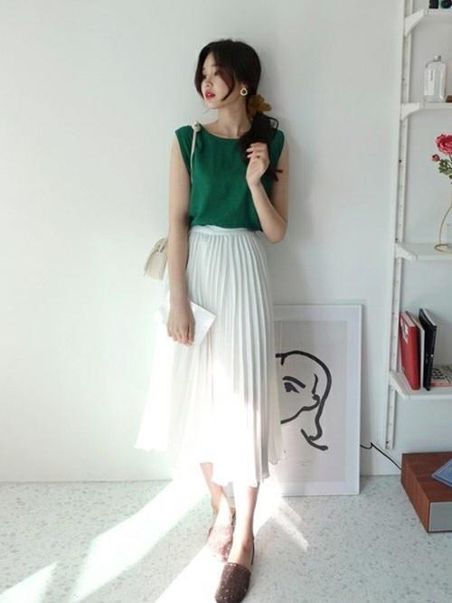 韓国コーデ スカートスタイル10