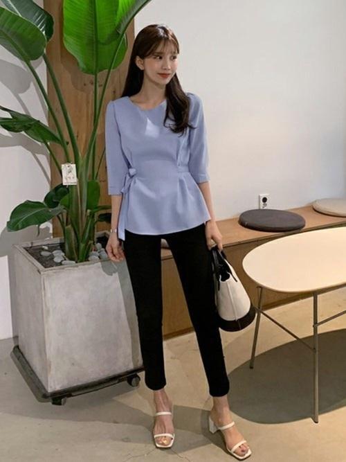 韓国コーデ パンツスタイル