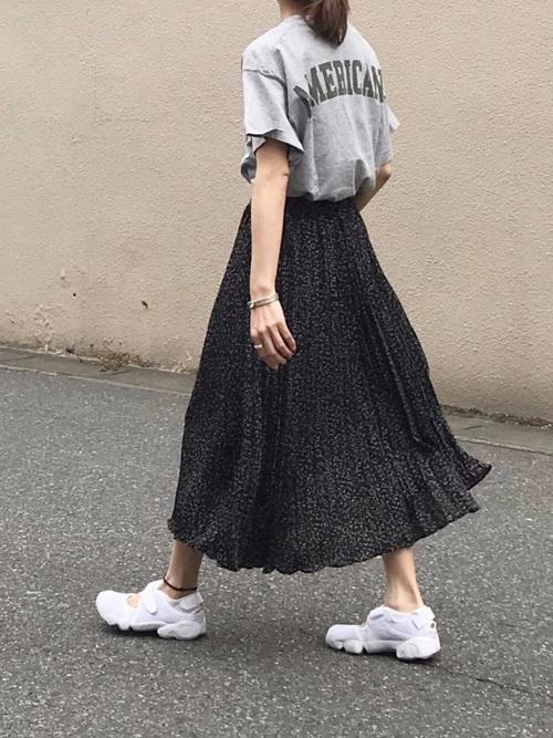 [Auntie Rosa] 【SHAGGIE】フラワーロングスカート