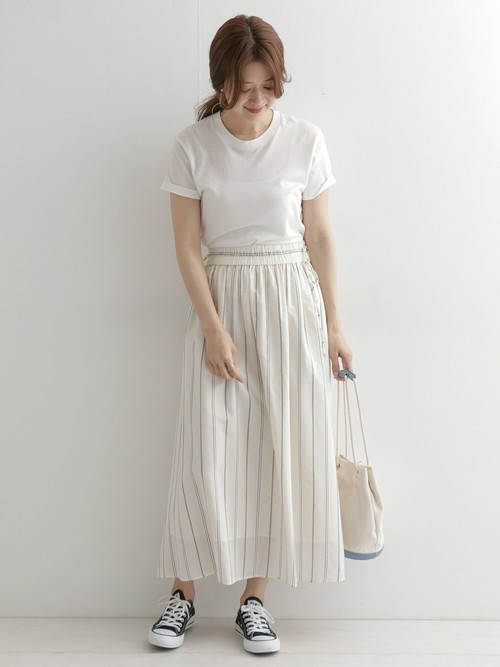 [URBAN RESEARCH DOORS] ストライプリボンギャザースカート