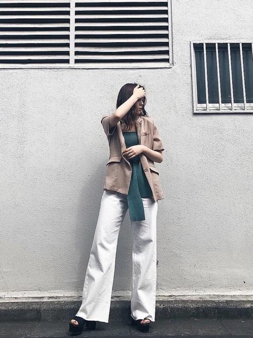 [EVRIS] SIMPLE バギーDENIM パンツ