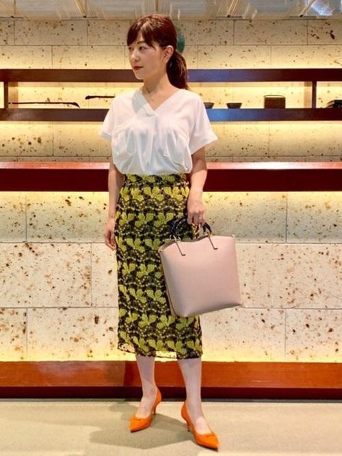 [BEAMS WOMEN] Demi-Luxe BEAMS / チュール刺繍 スカート
