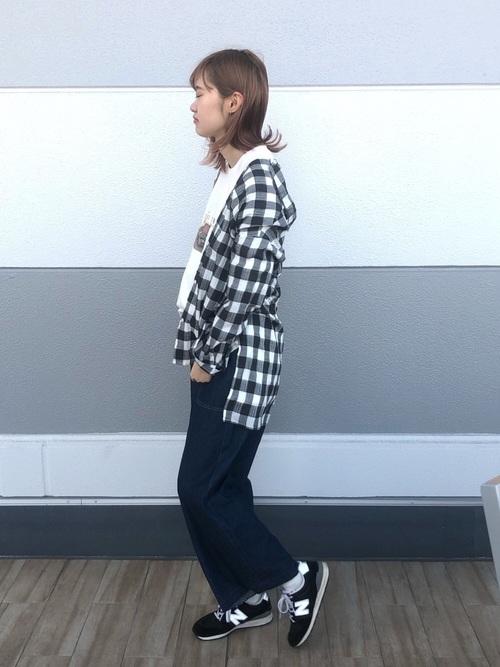 [Samansa Mos2] ビッグチェックシャツ