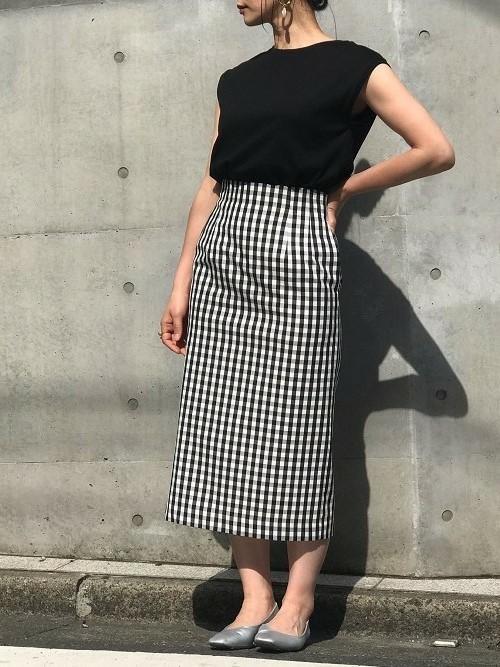 nanoco/ギンガムチェックタイトスカート2