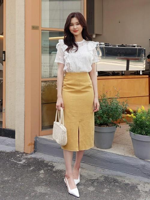 韓国コーデ スカートスタイル6