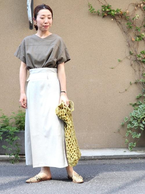 [NOMBRE IMPAIR] リネンライクツイード ラップスカート