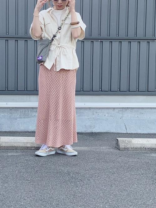 ZARA ピンクのニットスカート
