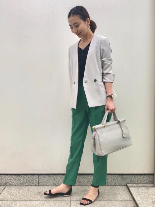 [green label relaxing] [手洗い可能/レックスツイル] ◆D ノーラペル ジャケット