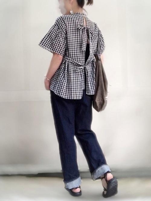 ギンガムチェックシャツ・ブラウス6