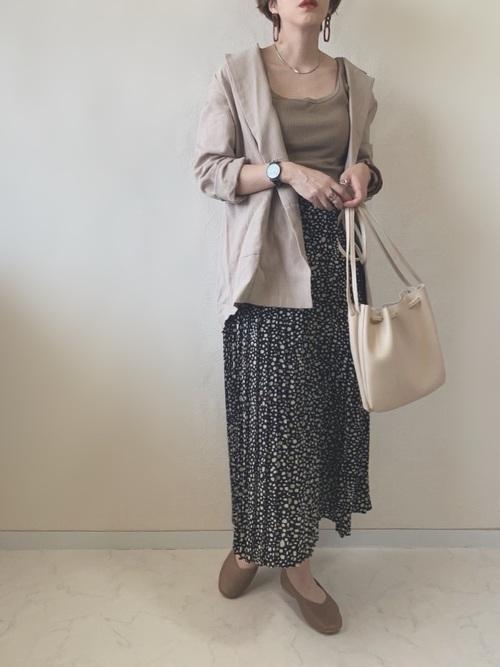 [Chaco closet] プリーツ Aライン ロングスカート2
