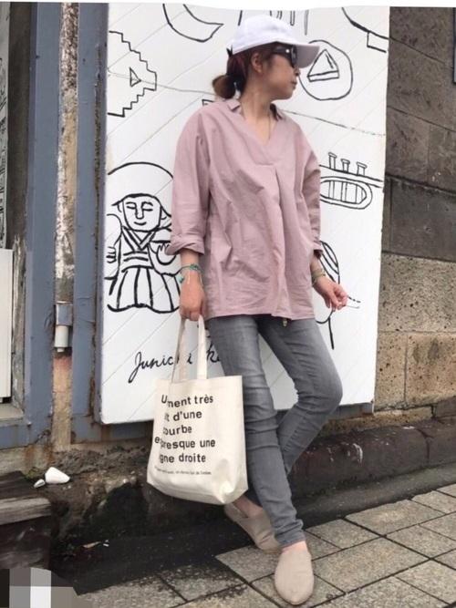 GUのシャツ&ブラウスコーデ集11