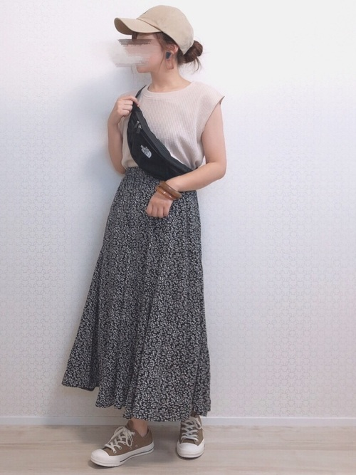 [chuclla/WESTBOY] 【chuclla】スカート 花柄 小花柄 フレア フレアロングスカート