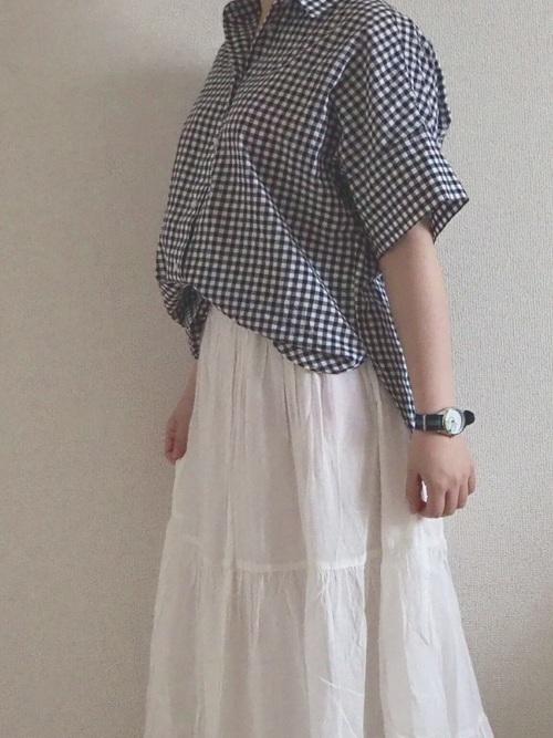 ギンガムチェックシャツ・ブラウス13