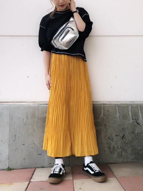 WEGO/ワッシャープリーツロングスカート