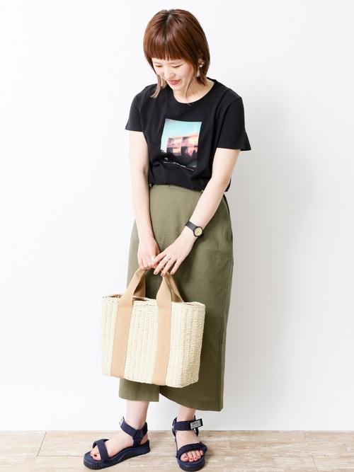 [SEVENDAYS=SUNDAY] ・タウンフォトプリントTシャツ ○