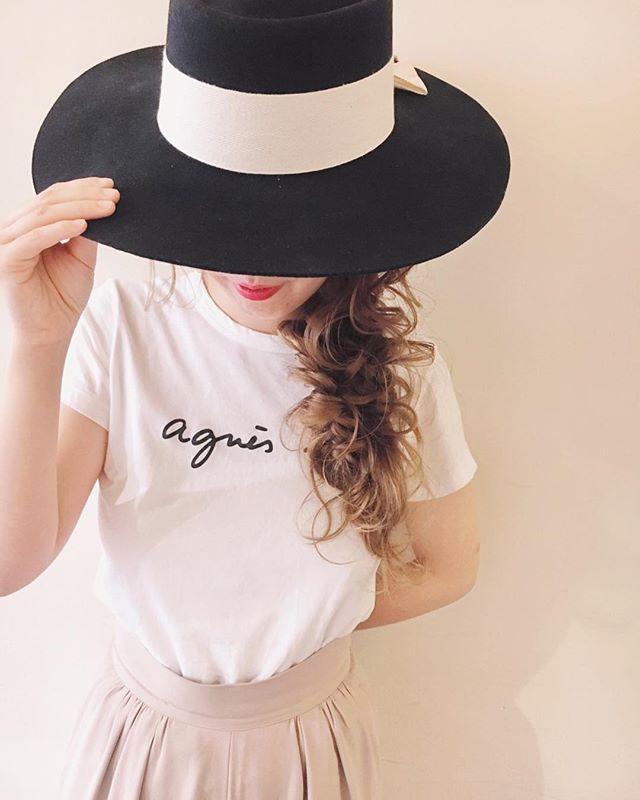 帽子+編み込みアレンジ2